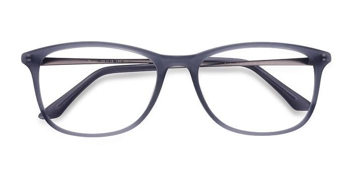 Matte Gray Oliver -  Plastic Eyeglasses