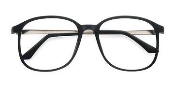 Matte Black Ithaca -  Vintage Plastic Eyeglasses