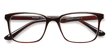 Brown Clear  November -  Classic Plastic Eyeglasses