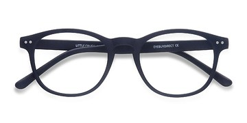 Matte Navy Little Crush -  Colorful Plastic Eyeglasses