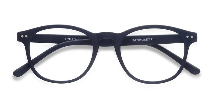 Matte Navy Little Crush -  Colorful Plastic Eyeglasses