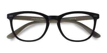 Matte Black Little Yolo -  Plastic Eyeglasses