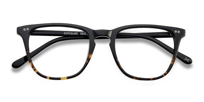 Jet Amber Exposure -  Vintage Acetate Eyeglasses
