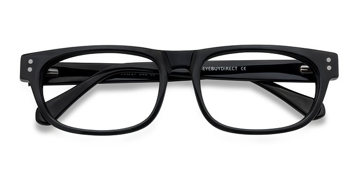 Black Oslo -  Acetate Eyeglasses