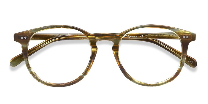 Striped Caramel Prism -  Acetate Eyeglasses