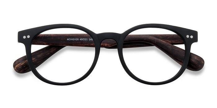 Matte Black Achiever -  Plastic Eyeglasses