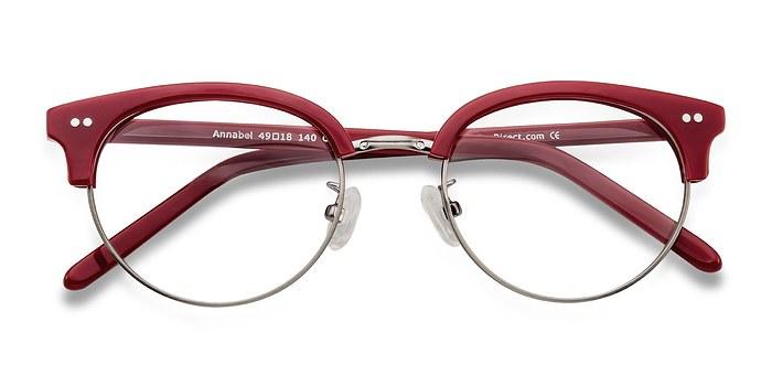 Rouge Annabel -  Designer Acétate Lunettes de Vue