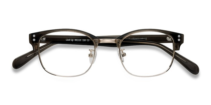 Clear Gray Look Up -  Designer Acetate Eyeglasses