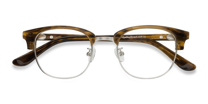 Brown Striped Bansai -  Acetate Eyeglasses