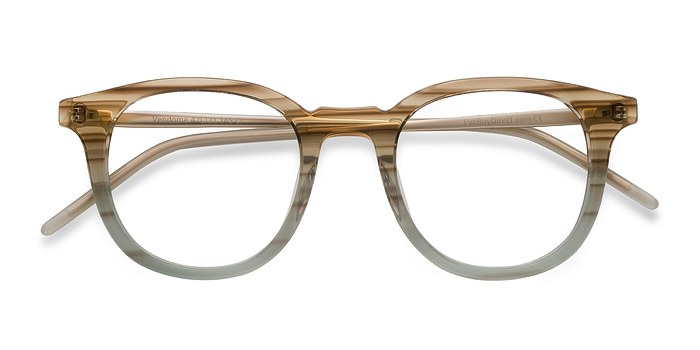 Brown Striped  Vendome -  Designer Acetate Eyeglasses