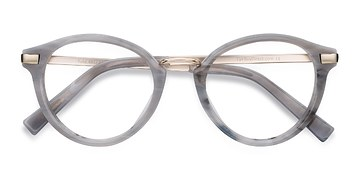 Light Gray Yuke -  Vintage Acetate Eyeglasses