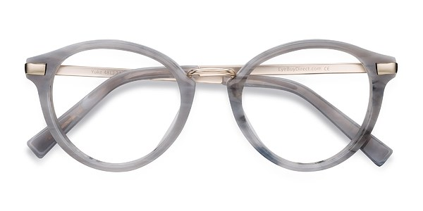 yuke light gray acetate eyeglasses eyebuydirect