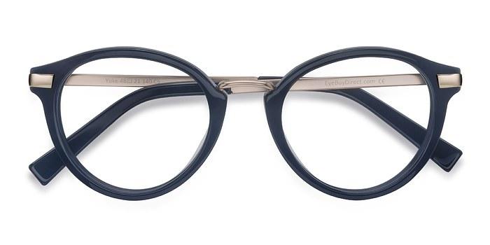 Dark Cerulean Yuke -  Designer Acetate Eyeglasses