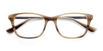 Brown Striped Hudson -  Fashion Acetate Eyeglasses