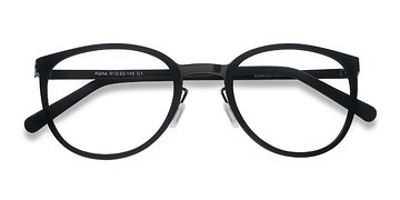 Black Alpha -  Acetate Eyeglasses