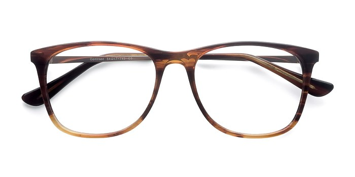 Brown Contrast -  Fashion Acetate Eyeglasses