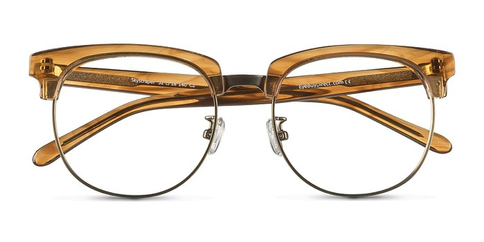 Brown Skyscraper -  Designer Acetate Eyeglasses