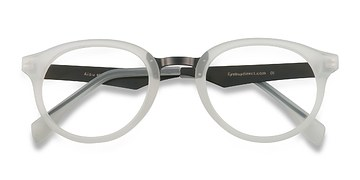 Matte White Aisu -  Metal Eyeglasses