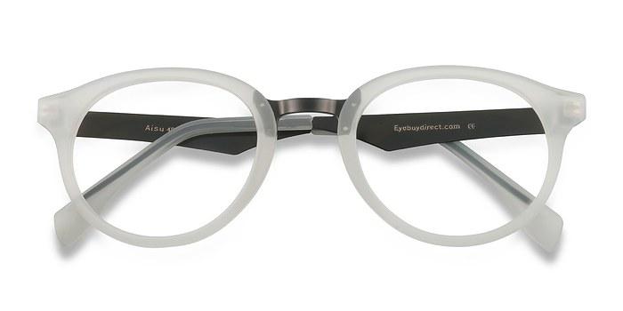 Matte White Aisu -  Metal Eyeglasses