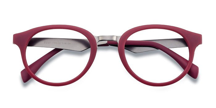Matte Burgundy Aisu -  Colorful Metal Eyeglasses