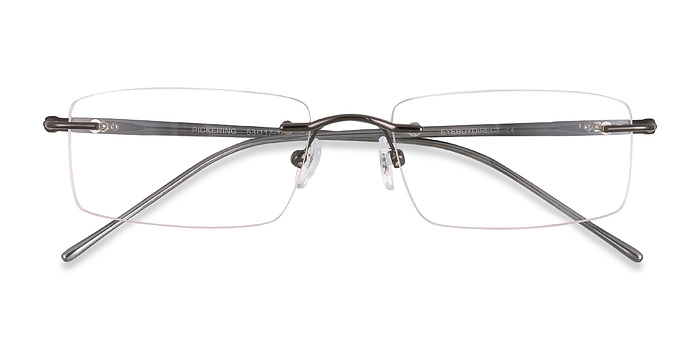 Gunmetal/Gray Pickering -  Lightweight Metal Eyeglasses