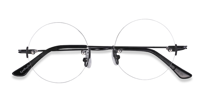 Black Palo Alto -  Lightweight Metal Eyeglasses