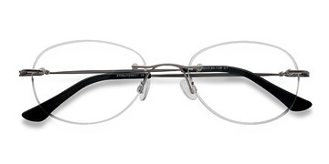 Silver Fragment -  Lightweight Metal Eyeglasses