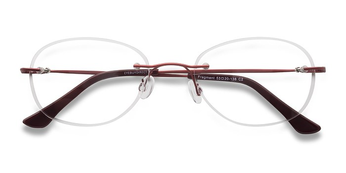 Burgundy Fragment -  Lightweight Metal Eyeglasses
