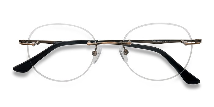 Bronze Fuse -  Lightweight Metal Eyeglasses