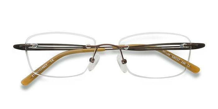 Brown Minute -  Lightweight Metal Eyeglasses