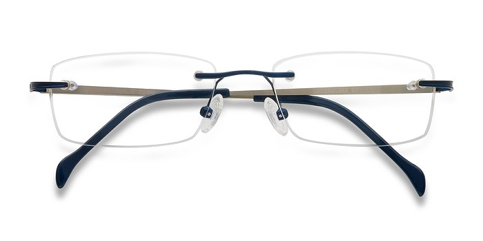 Navy Howard -  Lightweight Metal Eyeglasses