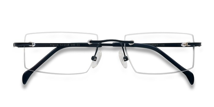 Navy Pilgrim -  Lightweight Metal Eyeglasses