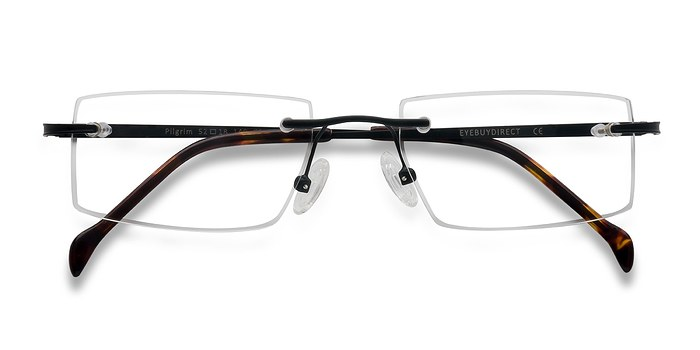 Black  Pilgrim -  Lightweight Metal Eyeglasses