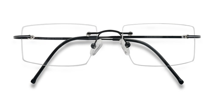 Black Divide -  Lightweight Titanium Eyeglasses