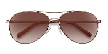 Brown Everett -  Metal Sunglasses