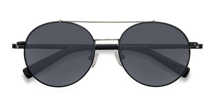 Black/Silver Hendrix -  Metal Sunglasses
