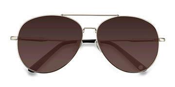 Matte Silver  Camp -  Metal Sunglasses