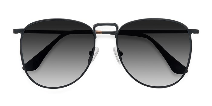 Black Fume -  Vintage Metal Sunglasses