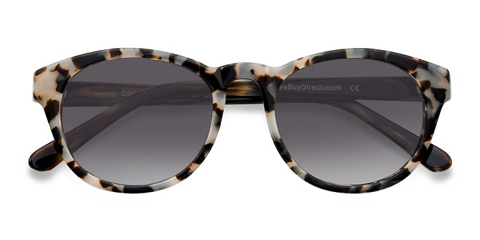 Gray/Brown Coppola -  Vintage Plastic Sunglasses