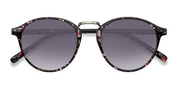 Red/Floral Millenium -  Plastic Sunglasses