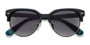 Black Carven -  Vintage Plastic Sunglasses