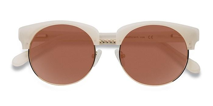 Ivory/Golden Simone -  Vintage Plastic Sunglasses