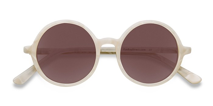 White Alena -  Acetate Sunglasses