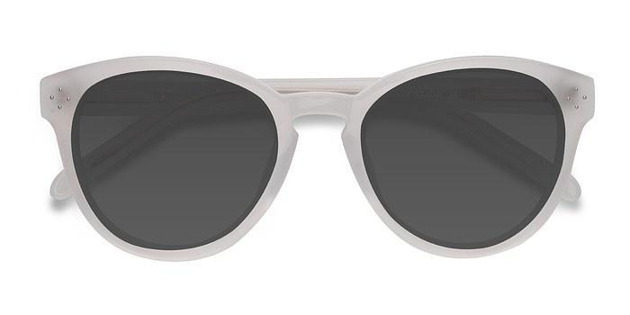 White Clear Augustine -  Vintage Acetate Sunglasses