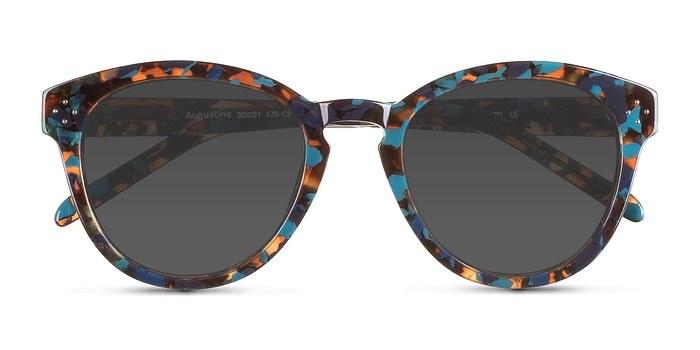 Blue Floral  Augustine -  Acetate Sunglasses