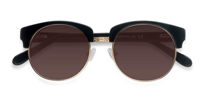 Black  Simone -  Vintage Acetate Sunglasses