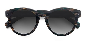 Tribal Green Penelope -  Vintage Acetate Sunglasses