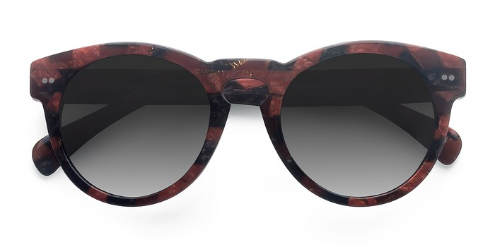 Red Floral Penelope -  Acetate Sunglasses
