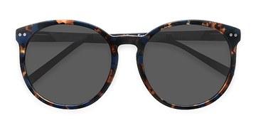 Blue Floral Vapor -  Acetate Sunglasses
