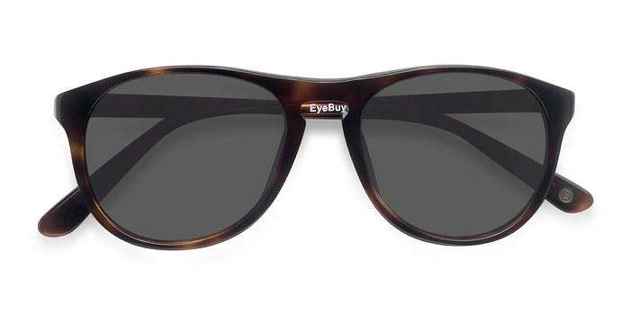 Tortoise Silt -  Acetate Sunglasses